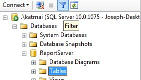 SSMS Filter Functionality
