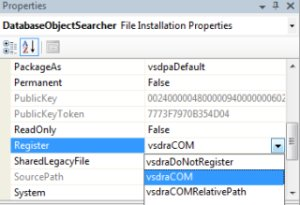 setting COM registration property in installer project