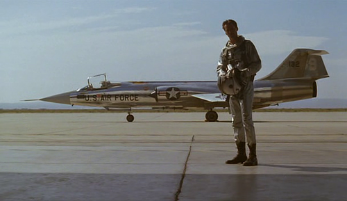 Mercury 7 Pilot Standing in Front of Lockheed-Martin F-104 Starfighter